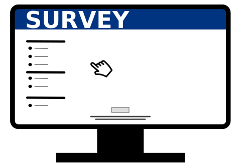 Illustration of an online survey