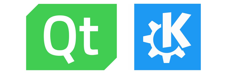 Qt and KDE logos