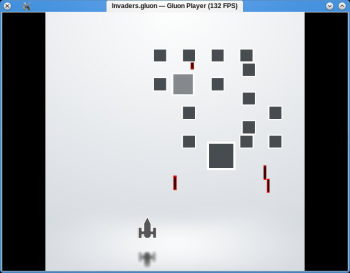 The simple Gluon Player used to play Invaders