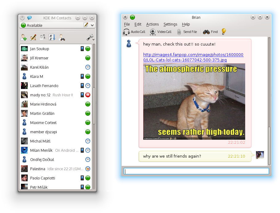 5th release of KDE Telepathy Instant Messaging suite | KDE.news